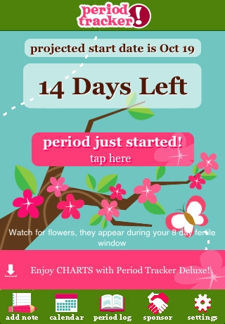 apps for women period tracker 12-31-2012