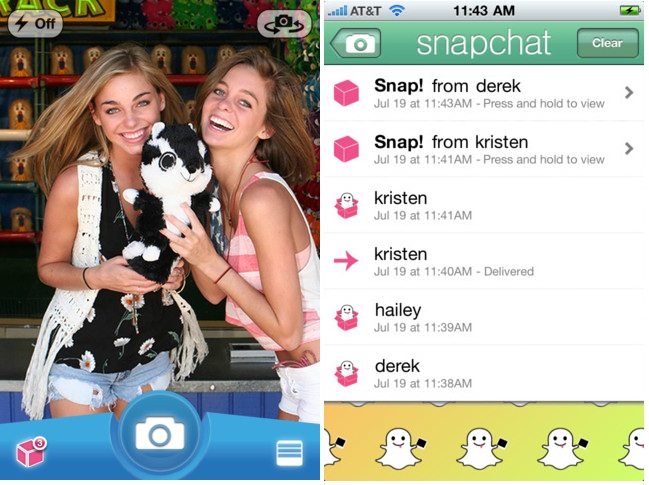 Snapchat girls sexting